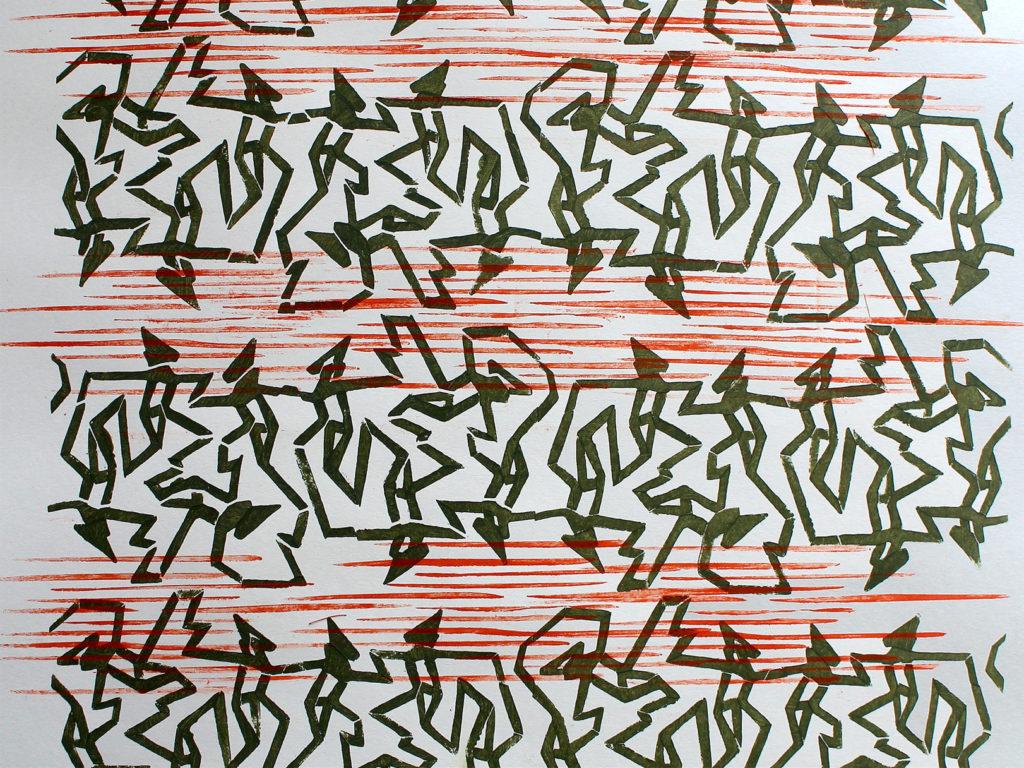 Vandringsfolk. Et håndtrykt kunstnertapet fra LLZ TAPET