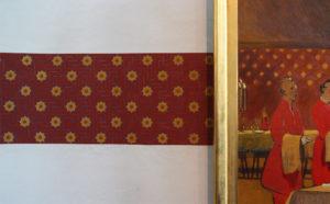 Willumsen Alhambratapet til venstre for billedet skabt af Lone Simonsen LLZ TAPET