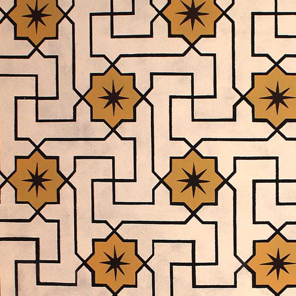 LLZ TAPET -Willumsen og Alhambra. Et håndtrykt kunstnertapet. 655,- pr meter