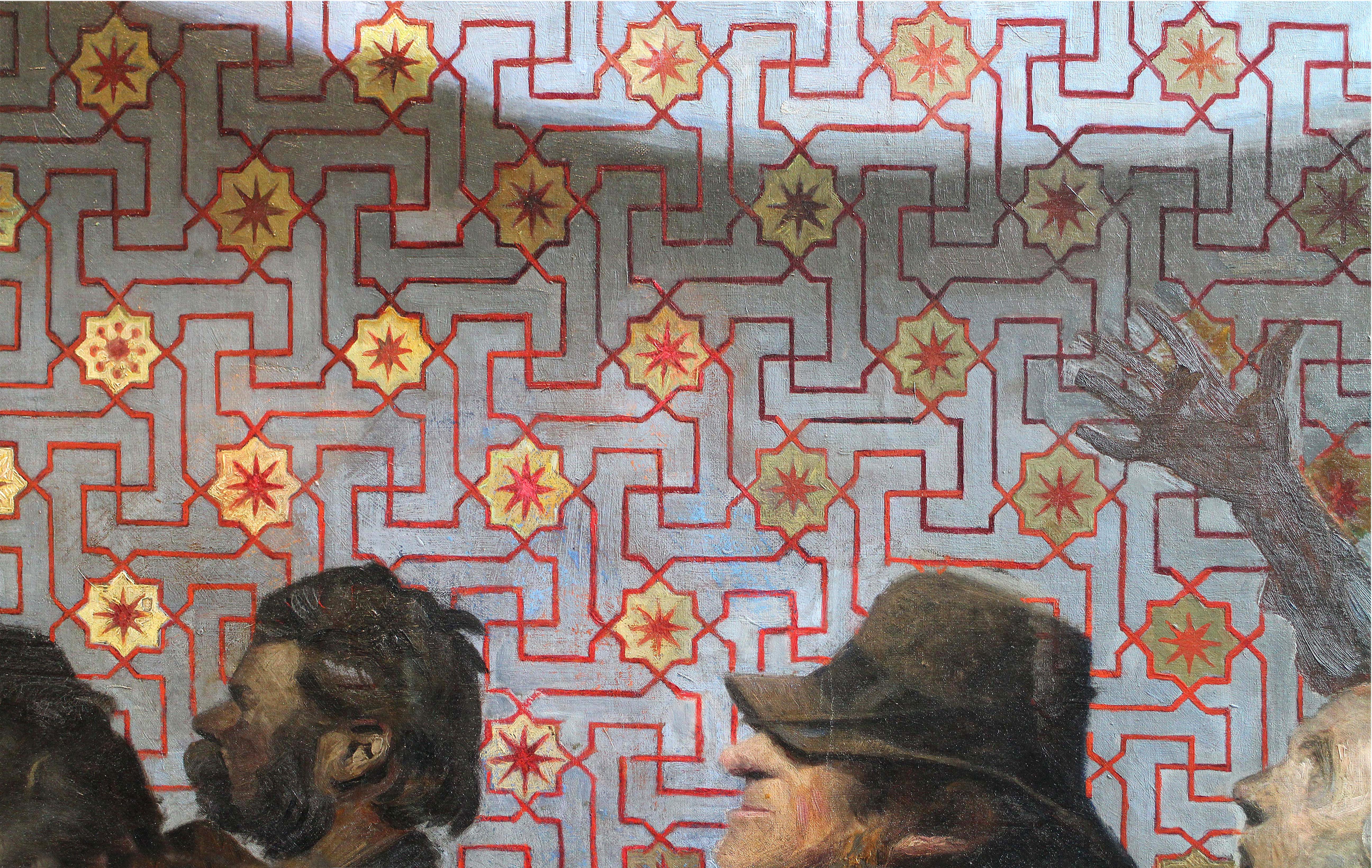 J. F. Willumsens mønster i billedet: Kongesønnens bryllup