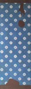 Willumsen og Alhambramønstret 10. Original håndtrykt på kraftig nonwoven tapetpapir med tempera. Måler 56 x 160 cm. Prisen er 2.300,-