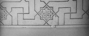 Vægfrise mønster fra Alhambra paladset