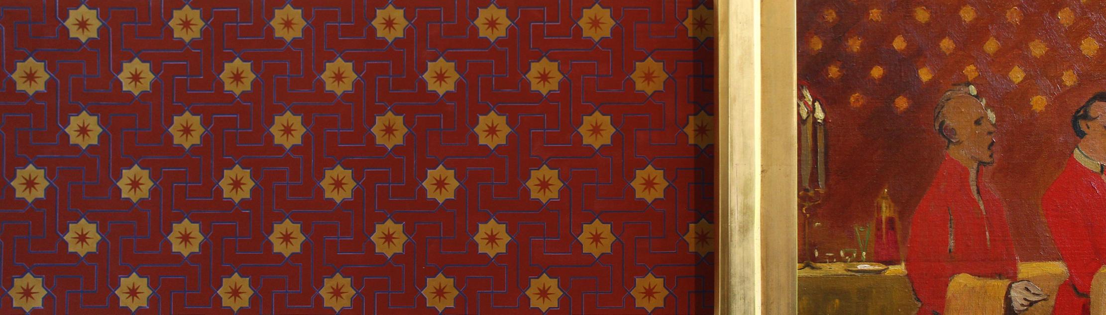 Willumsen Alhambratapet til venfor billedet er lavet af Lone Simonsen LLZ TAPET